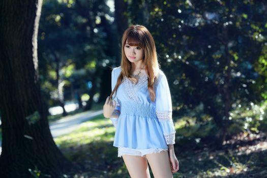 Photo free asian, model, short