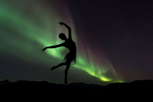 Photo free ballerina, silhouette, dance