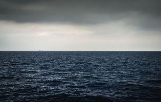 Бесплатная заставка горизонт, волны