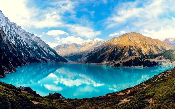 Фото бесплатно озеро, прозрачная вода, отражение