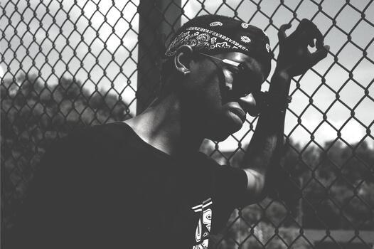 Photo free man, black and white, sunglass
