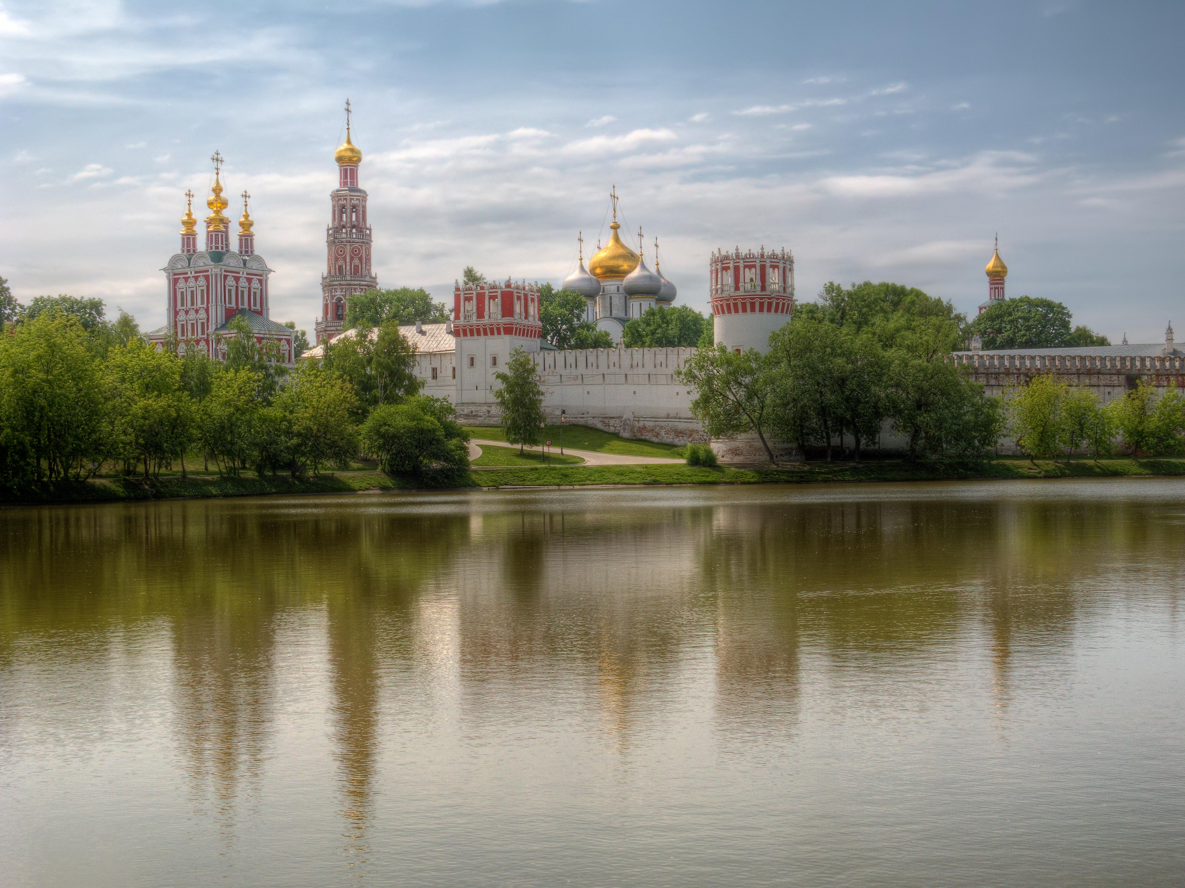 Обои Новодевичий монастырь, Богородице-Смоленский монастырь, Москва, Россия