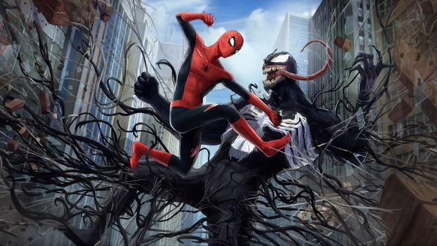 Заставки яд, паук, супергерои