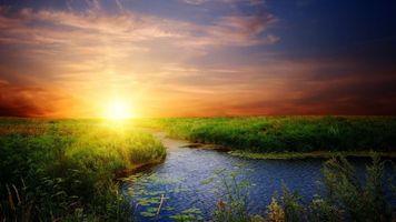 Фото бесплатно атмосферное явление, послесвечение, пейзажи