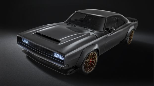 Photo free black, muscle cars, Dodge Super Charger