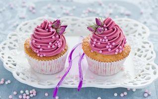 Бесплатные фото кекс,крем,украшение,праздник