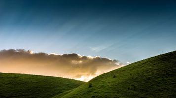 Фото бесплатно солнечный свет, пейзаж, холм