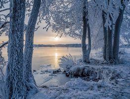 Фото бесплатно зима, савонлинна, озеро Сайма