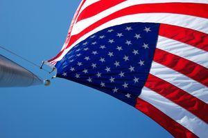 Фото бесплатно флаг, ветер, американский флаг
