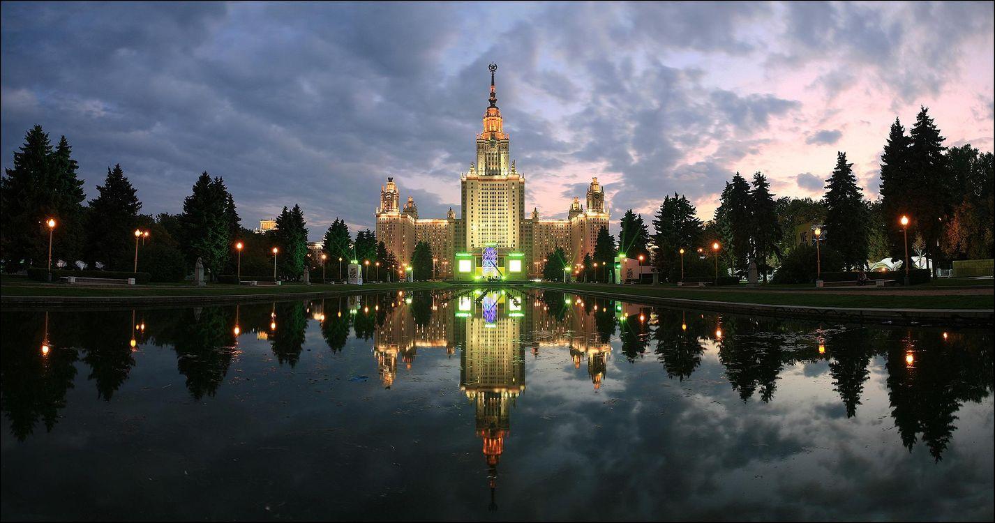 Фото бесплатно Московский государственный университет имени М В Ломоносова, Москва, Россия, город
