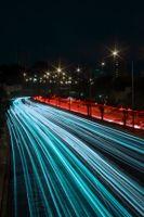 Фото бесплатно свет, поворот, ночь