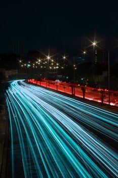 Бесплатные фото дорога,ночь,свет,поворот,road,night,light,turn