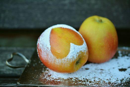 Фото бесплатно яблоко, фрукты, мука