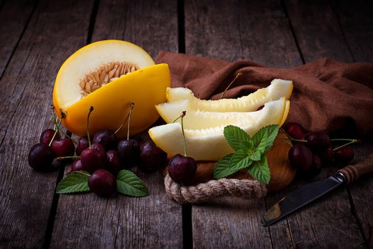 Photo free melon, cherry, fruits