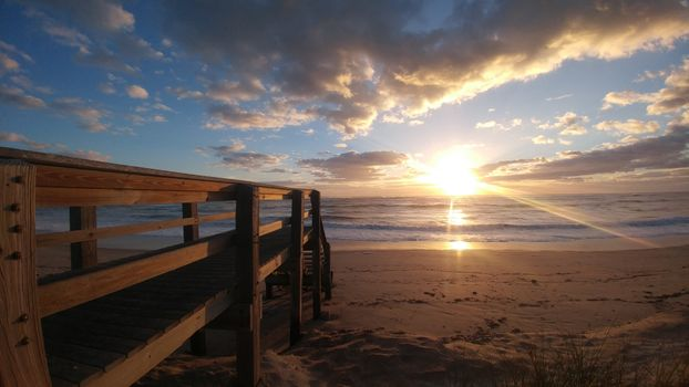 Photo free beach, sunrise, ocean