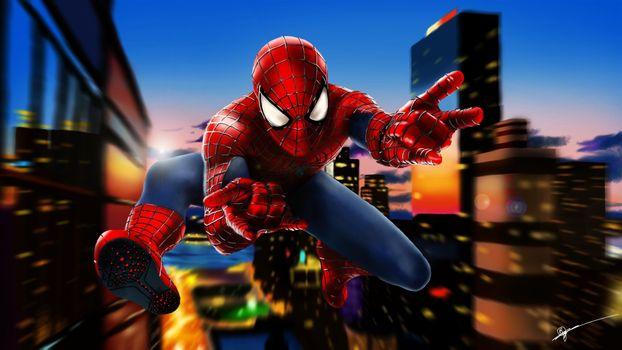 Фото бесплатно Человек-паук, художественное произведение, искусство