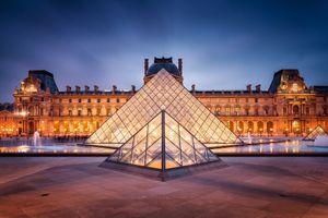 Фото бесплатно Музей Лувр, Париж, Франция