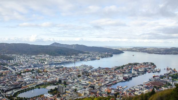 Photo free Norway, view from the top, cityscape