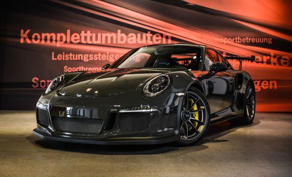 Фото бесплатно porsche 911 gt3 rs, черный, гоночные суперкары