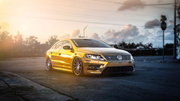 Photo free car, Volkswagen, gold
