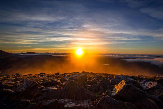 Фото бесплатно камни, закат, пейзаж