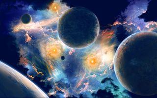 Фото бесплатно планета, невесомость, безымянное пространство