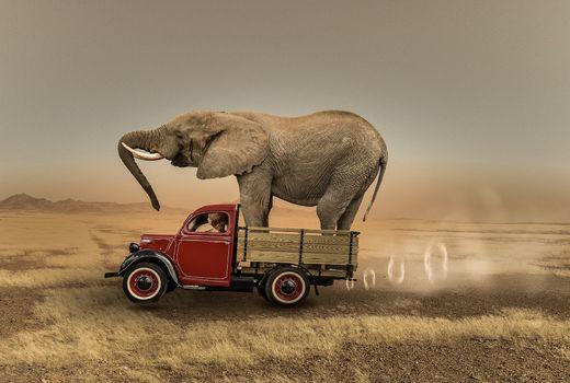 Фото бесплатно автомобиль, фантазия, фотошоп