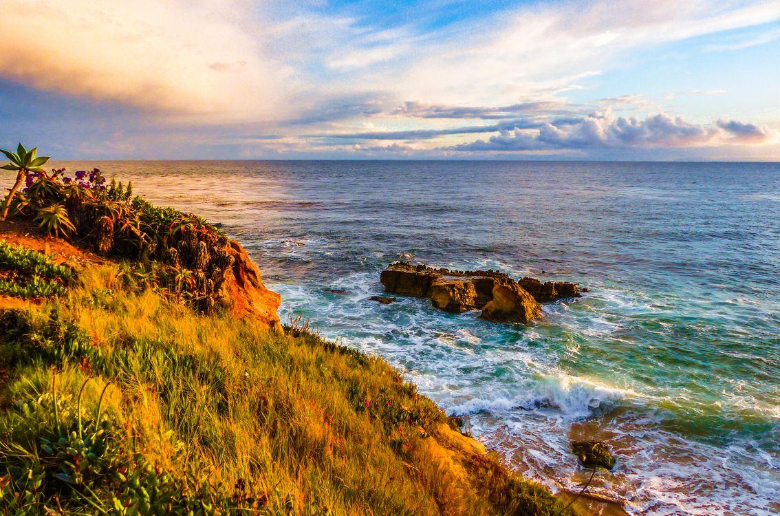 Фото бесплатно Laguna, Beach, Калифорния, южный пляж, закат солнца, облака, море - на рабочий стол
