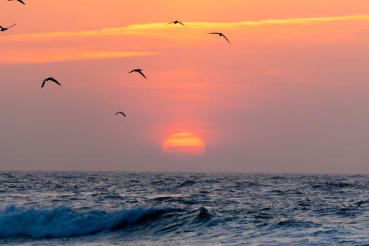 Фото бесплатно облака, скала, закат