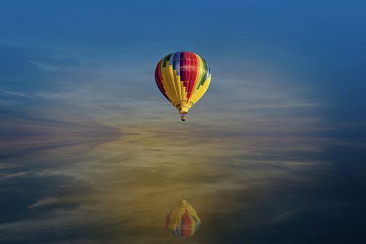 Photo free sky, balloon, sea