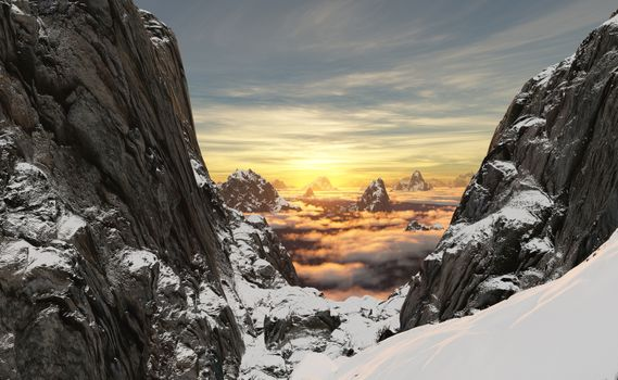Заставки снег, горы, даль