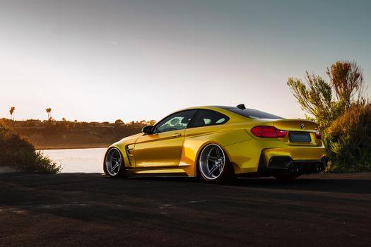 Фото бесплатно BMW M4, роскошный автомобиль, производительный автомобиль
