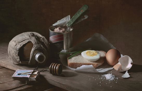 Photo free egg, bread, Breakfast