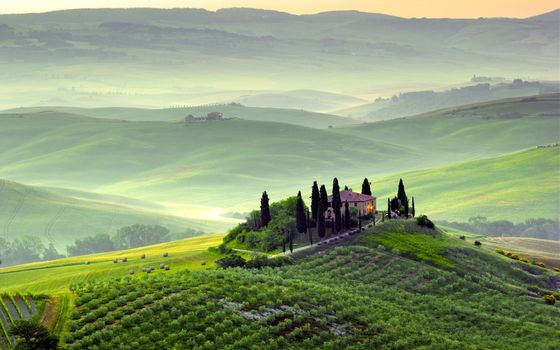 Tuscany photos from the height of bird flight
