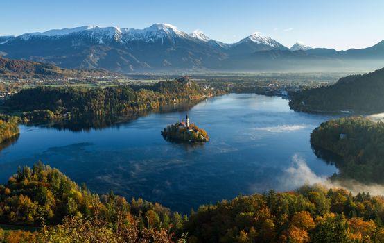 Фото бесплатно водоём, осень, горы