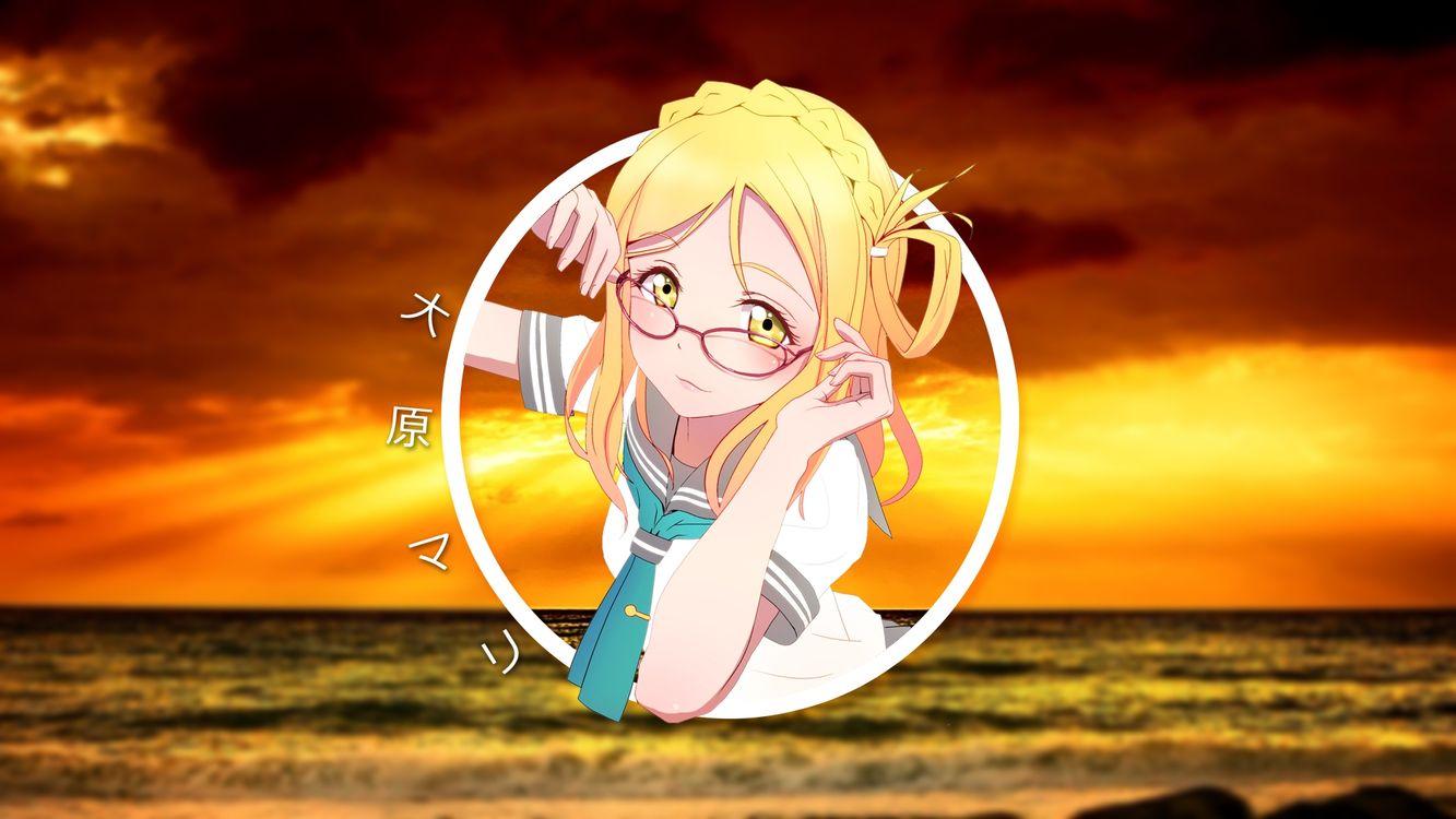Фото бесплатно polyscape аниме, девушка, meganekko - на рабочий стол