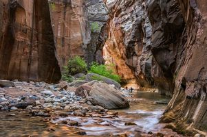 Photo free Virgin River, Zion National Park, mountains