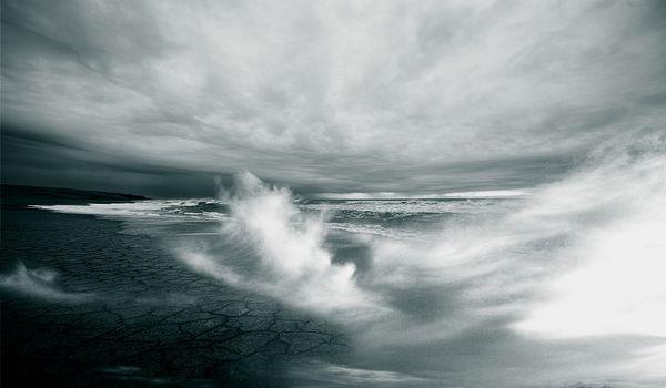 Фото бесплатно берег, атмосфера, монохромный