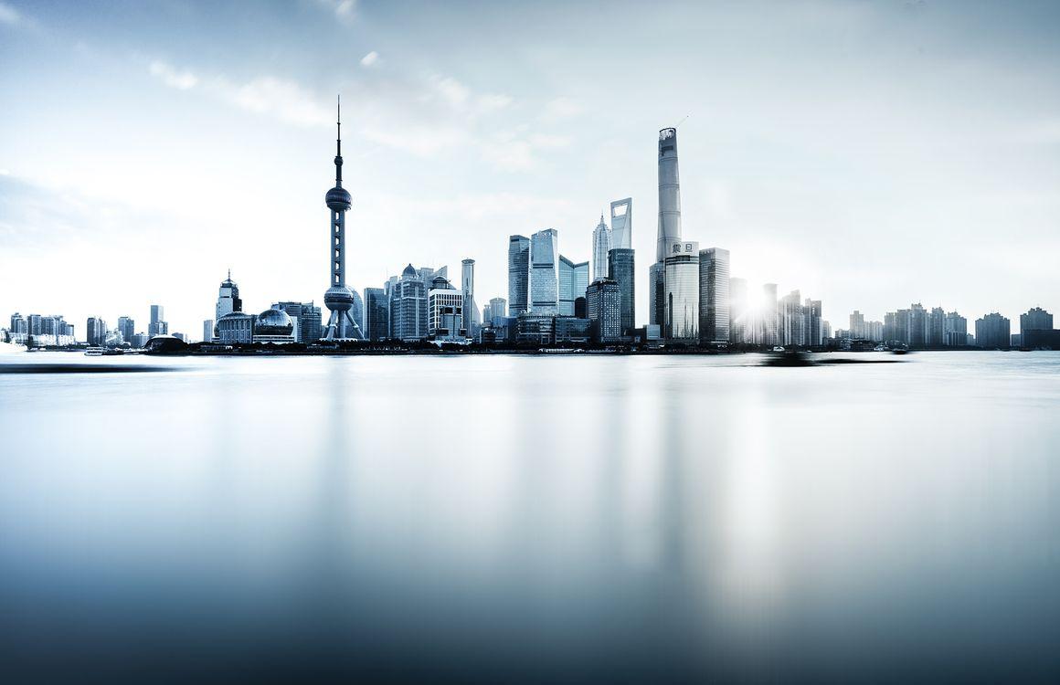 Фото бесплатно Китай, Шанхай, небоскребы - на рабочий стол