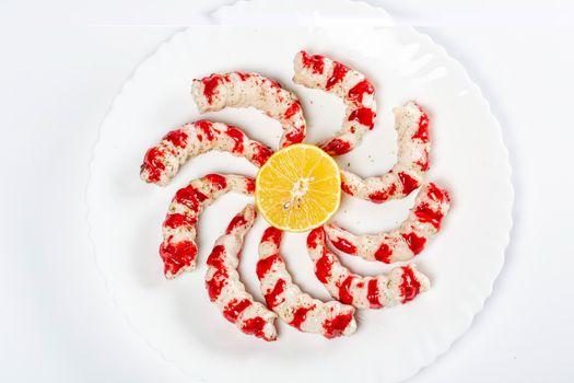 Фото бесплатно еда, креветки, лимоны