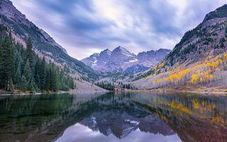 Фото бесплатно Maroon Lake, Colorado, горы