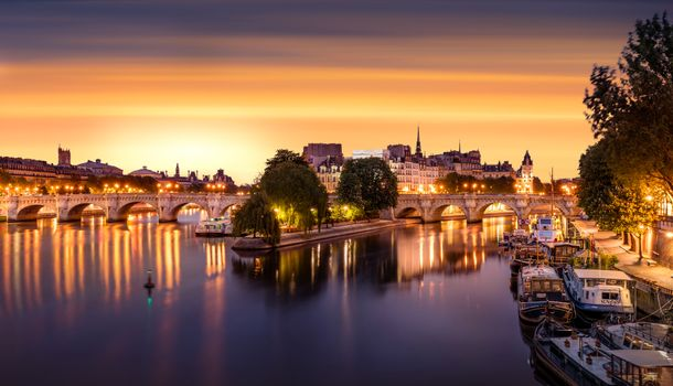 Фото бесплатно иллюминация, Seine River, город