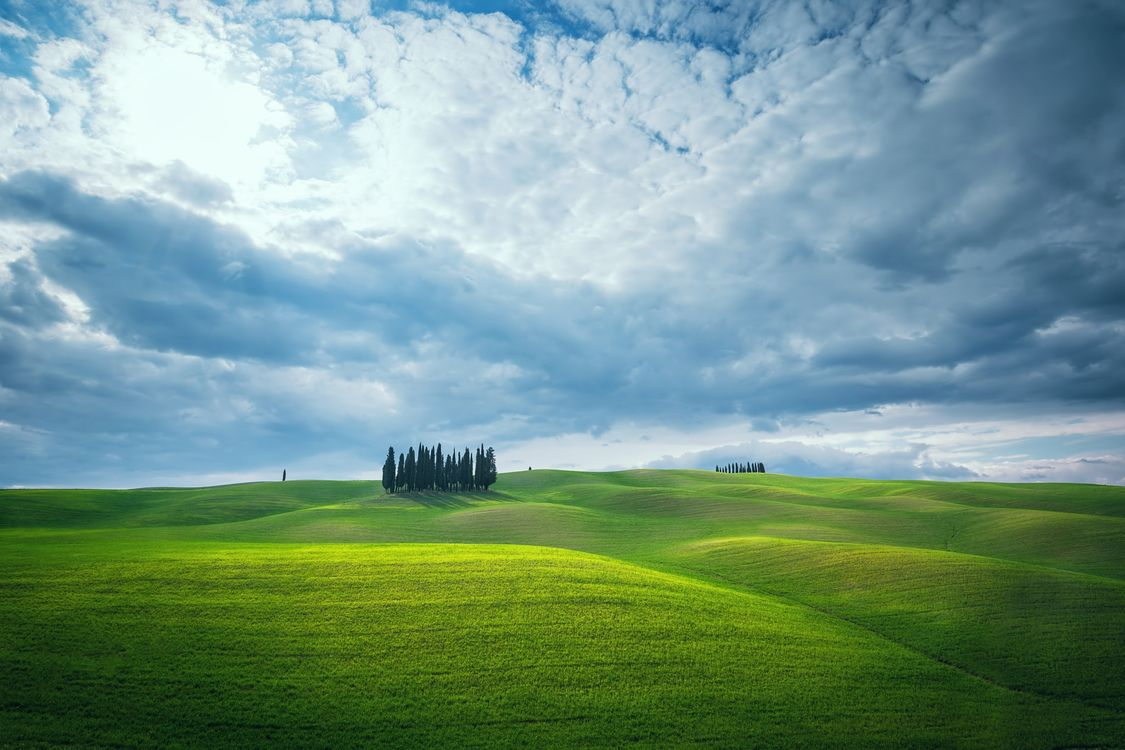Фото бесплатно облака, поле, Italy - на рабочий стол