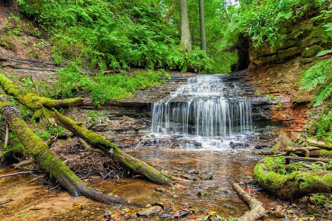 Фото бесплатно водопад, скалы, лес, деревья, природа, природа