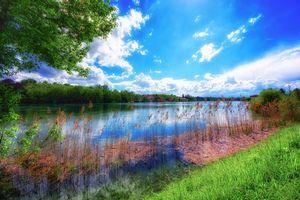 Бесплатные фото лето,река,деревья,пейзаж