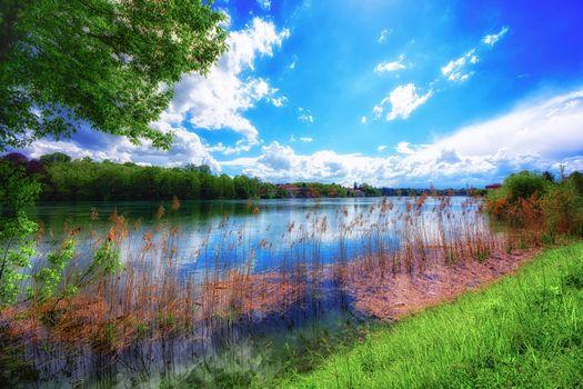 Фото бесплатно река, лето, пейзаж