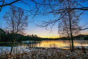 Фото бесплатно Норвегия, закат, озеро
