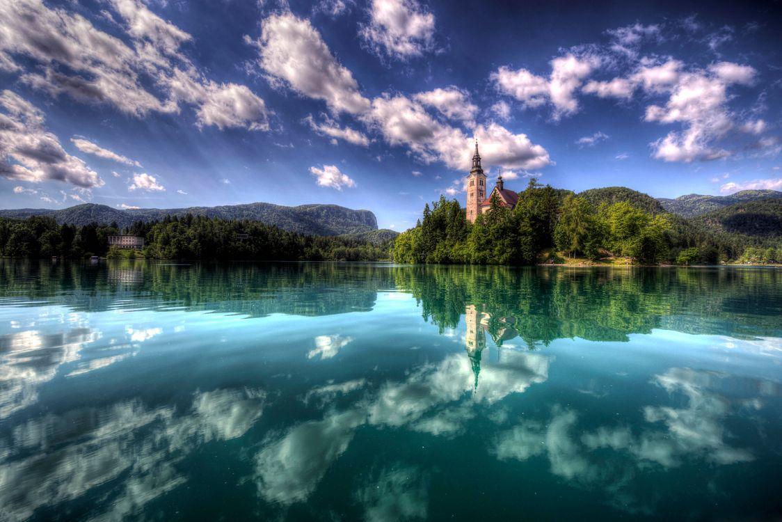 Фото бесплатно Остров Блед Озеро Блед Словения - на рабочий стол