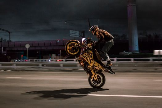 Photo free trick, biker, Wheelie