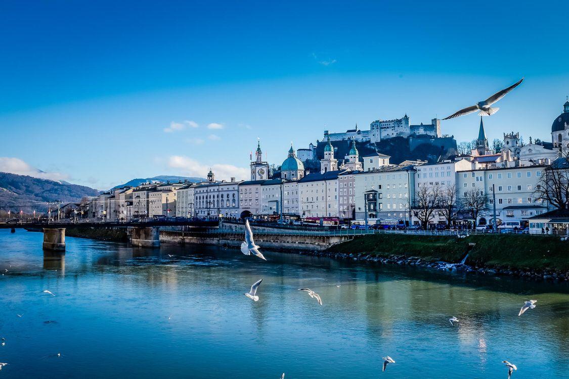 Фото бесплатно Salzburg, Зальцбург, Австрия, город - скачать на рабочий стол